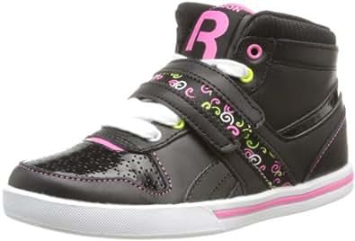 Reebok Betty Bash, Baskets mode fille - Noir (Black/Pink/Neon Yellow/White), 29 EU