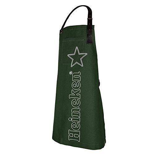 Heineken Cowboy Kitchen Apron for Man Barbecue Model with Dark Green Logo
