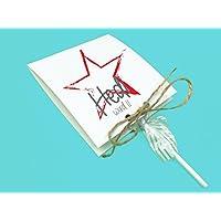 Einladungskarten Kindergeburtstag mit Stern inkl. Lollies oder Gummibärchen