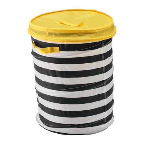 *IKEA Spielzeugkorb mit Deckel FLYTTBAR in 2 Farben (gelb)*