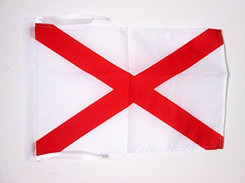 FLAGGE ALABAMA 45x30cm mit kordel - BUNDESSTAAT ALABAMA FAHNE 30 x 45 cm - flaggen AZ FLAG Top Qualität (Flag Alabama)