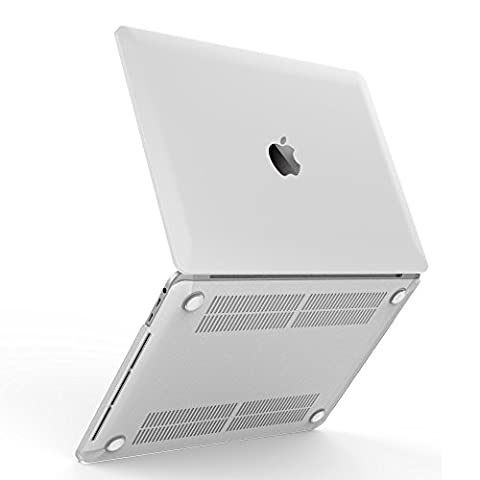 "iBenzer Coque rigide en plastique toucher doux pour toutes les tailles de MacBook/MacBook Air 13,3 pouces/Air 11 pouces/MacBook Pro 13 pouces/MacBook Retina 13 pouces/Retina 15 pouces/Retina 12 pouces New Macbook Pro 15"" with Touch Bar (A1707) claire"