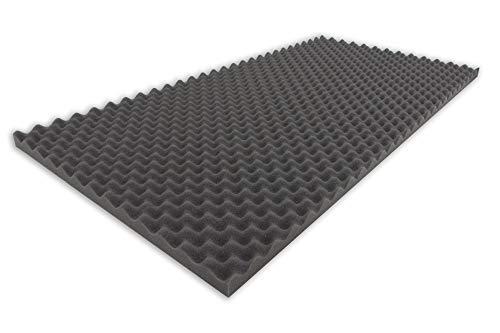 6x Perfect Schalldämmung Akustikschaum Panel Audio Equipment Teile Schwarz