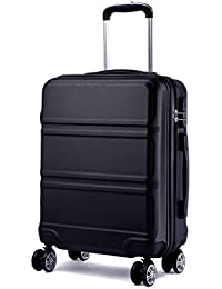 Kono Fashion Luggage Lightweight ABS Hard Shell Trolley Travel Suitcase with 4 Wheels
