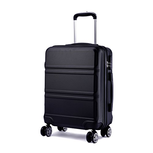 Kono Koffer Trolley Hartschale Handgepäck Zwillingsrollen Leichtgewicht ABS Kabinentrolley Reisekoffer Zahlenschloss 55cm