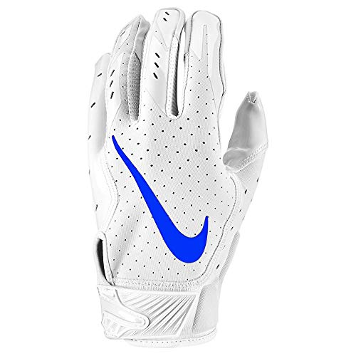 Nike Vapor Jet 5.0 White Pack Edition, American Football Handschuhe - weiß/royal Gr. S