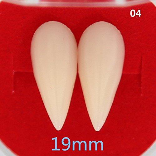 Pynxn - 4 Styles Horrific Fun Clown Kleid Vampir-Zähne Halloween-Party-Gebisse Props Zombie Teufel Fangs Tooth mit Dental Gum [19mm]