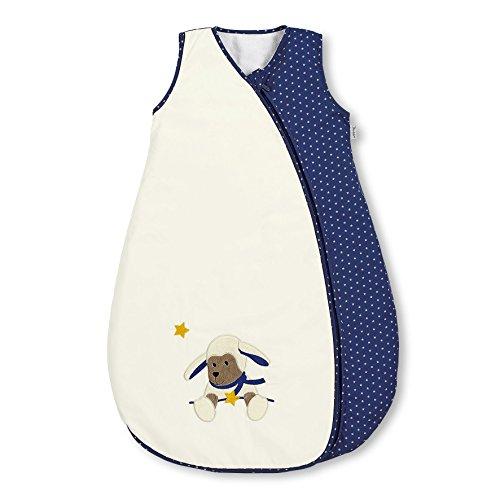 Sterntaler Sommer-Schlafsack für Kleinkinder, Reißverschluss, Größe: 90, Stanley, Crème/Blau