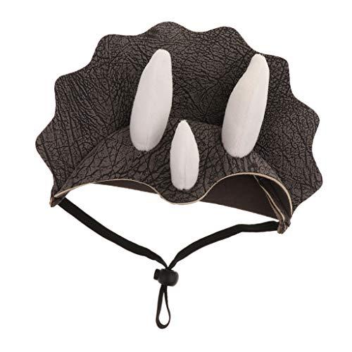 perfk Haustier Triceratops Cosplay Kostüme Hund Katze Hut Kopfbedeckung