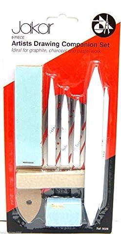 Artist Drawing Companion Set Blending Stumps Set with Sharpener Tortillon