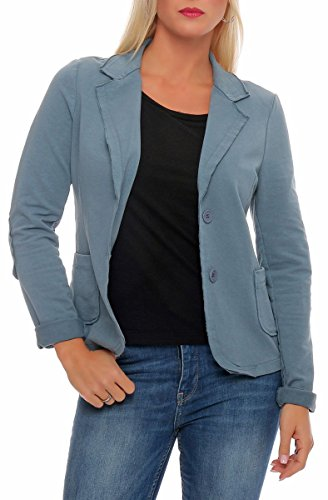 Malito Clásico Chaqueta en el Básico Chaqueta del Sudor Business 1651 Mujer (S, Azul Claro)