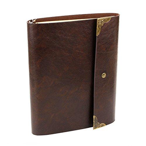 XIUJUAN A5 Notizbuch Vintage Leder Notebook Tagebuch Nachfüllbar Sketchbook Leer Buch zum Selber...