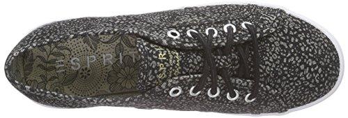 ESPRIT - Italia Lace Up, Scarpe da ginnastica Donna Nero (Nero (001 Black))