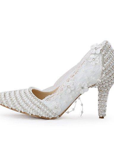 WSS 2016 Chaussures de mariage-Blanc-Mariage / Habillé / Soirée & Evénement-Talons / Bout Pointu-Talons-Homme 3in-3 3/4in-us6 / eu36 / uk4 / cn36