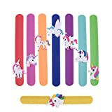 SuxiDi 8pcs Unicorn Slap Bracelet Silicone Wristbands Unicorn Party Supplies Kids Party Favors Decorations Cute Assorted Unicorn Wristbands Novelty Toy School Prize Gifts Children Goodie Bag Fillers