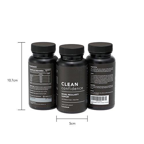 CLEAN Confidence Unterstützung zur regelmäβigen Darmtätigkeit – 60 Kapseln – Eine Monatsration von ConfidentU