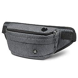 WATERFLY Bauchtasche für Damen und Herren Gürteltasche Hüfttasche mit Kopfhörerbuchse Rucksack für Radfahren Wandern Reisen Freizeit Sport-Outdoor