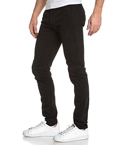 BLZ jeans - Pantalon homme classique noir chino Noir