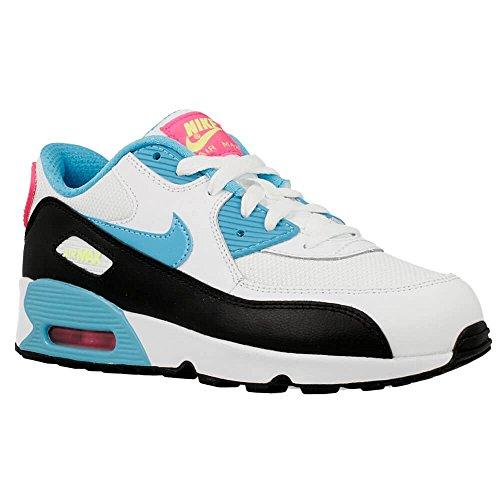 Nike Air Max 90 Mesh (PS), Zapatillas para Niñas, Blanco (Blanco (White / Gmm Bl-Pnk Blst-Ghst Grn)), 33.5 EU
