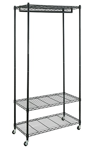 Organize It All -tag-re 13111 Avant avec Hanging Bar - Noir