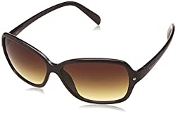Fastrack UV Protected Square Womens Sunglasses - (P312BR1F|57|Brown Color)