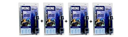 Sawyer Mini Wasserfilter Limited Edition Outdoor Camping Trekking Wasserfilter Wasseraufbereitung (4-er Set Schwarz)