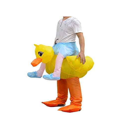 Bangxiu-festival Aufblasbares Kostüm Niedliche kleine gelbe Ente Cosplay Kostüm Halloween Party Cartoon Charakter Dress Up for Erwachsene (Farbe : Yellow Duck, Größe : Einheitsgröße) (Cartoon Charakter Kostüm Für Partys)