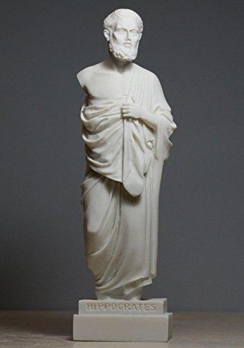 Alabaster Statue Hippokrates Vater der modernen Medizin Arzt Skulptur 9,45΄ (Hippokrates-statue)