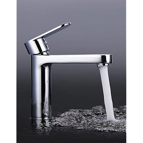 Il lusso classico e contemporaneo Finitura cromata in Ottone foro di una singola maniglia a caldo e a freddo i rubinetti del lavandino rubinetto , cream CSÁSZÁR