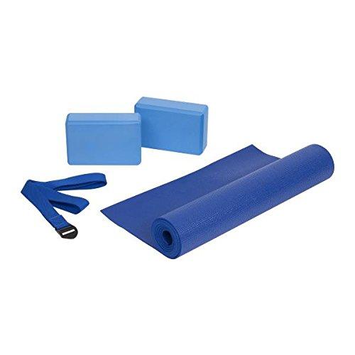 Yoga Starter Set, Matte, Block, Gurt, Pilates, Gymnastik, Fitness, Sport, 4-tlg