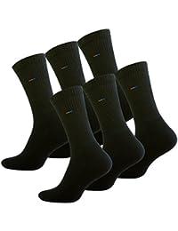 Vincent Creation 6 paires de chaussettes de sport avec tissu éponge, noir