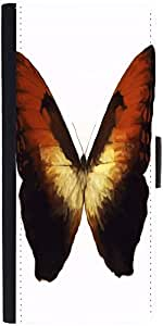 Snoogg Digital Painting Of A Butterfly Graphic Snap On Hard Back Leather + Pc...