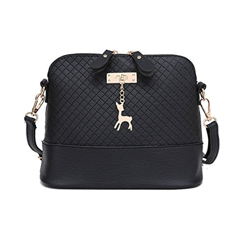 Frauen Messenger Bags Hirsch Spielzeug Shell Form Tasche Black One Size