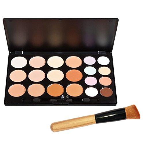 Vococal® 20 Couleur Correcteur Camouflage Cosmétique Maquillage Palette Et 1PC Pinceau de Maquillage Kit