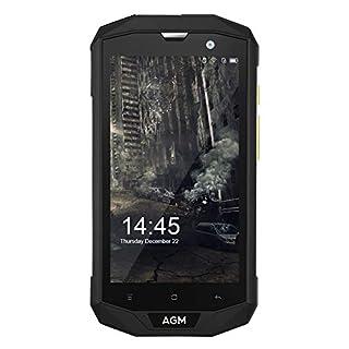 Phone EU, AGM A8 4GB RAM + 64GB ROM 5.0 '' HD Telefon Tragbar Smartphones Handys IP68 MSM8916, Viererkabel-Kern, Kamera 13.0MP, Batterie 4050mAh NFC OTG