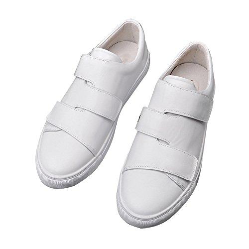 Damen Schuhe Nan 2018Sommer Pu rund Kopf Flacher Boden liege Klettverschluss Weiß Schuhe Größe 35-39rutschfest tragbar Big Bottom bequem und atmungsaktiv, EU39/UK6/CN39