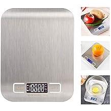 Buyi-World Báscula Digital para Cocina Escala Eléctrica de Alta Precisión, Balanza Profesional para