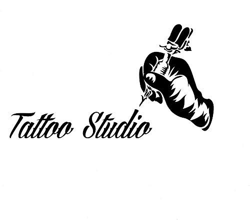 75x42cm tattoo salon wall window decoration tattoo machine adesivi murali in vinile mano decalcomanie da parete rimovibili tattoo studio