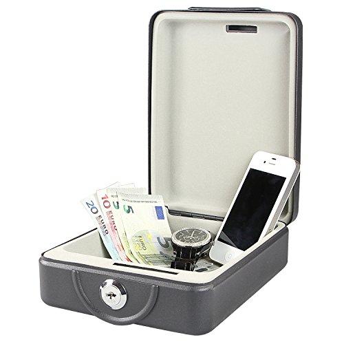 HMF 307-02 Dokumentenbox anschraubbar für Wohnmobil, Boot etc. 20,0 x 15,5 x 7,0 cm , schwarz - 2