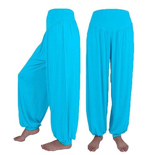 Mitlfuny Frauen Damen Hose Mode Hot Pants,Womens elastische lose beiläufige modale Baumwolle weiche Yoga Sport Dance Harem Hosen Stretch-kick Flare Jeans