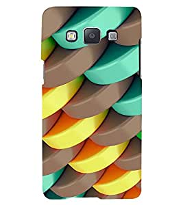 TRICOLOURED CIRCULAR STACKS PATTERN 3D Hard Polycarbonate Designer Back Case Cover for Samsung Galaxy A5 (2015 Edition) :: Samsung Galaxy A5 A500F (2015)