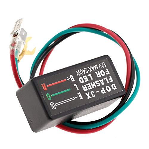 1er 12V LED Blinker Relais Motorrad Blinkrelais 3-Polig für Auto Zeug Pro
