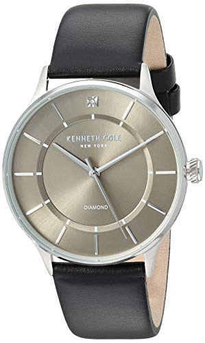 Kenneth Cole New York Men's Analog-Quartz Watch with Leather Strap KC50580004