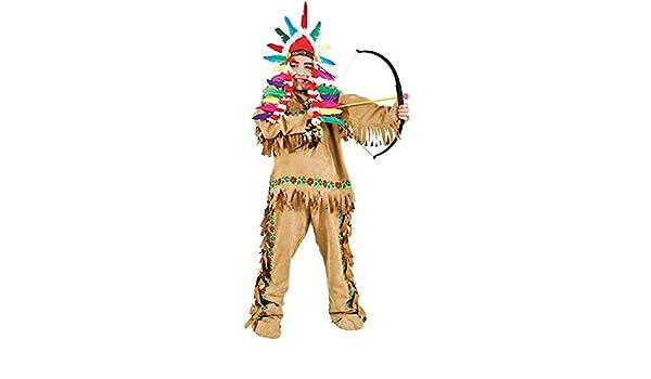 Costume di Carnevale da Indiano Vestito per Ragazzo 11-12 Anni  Travestimento Veneziano Halloween Cosplay Festa Party 50520 Taglia 11 XXL   Amazon.it  Giochi ... 6c4d70dce63