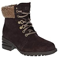 Caterpillar Cora Fur Womens Ladies Ankle Boots Brown - Brown - UK Sizes 3-8