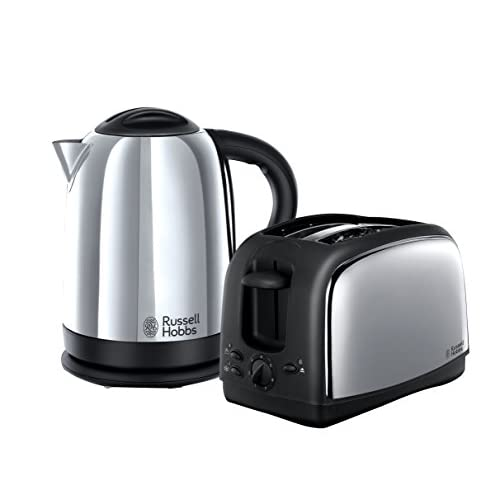 41oYXWvXwbL. SS500  - Russell Hobbs Lincoln Kettle and 2-Slice Toaster 21830 - Polished Stainless Steel Silver, Pack of 2