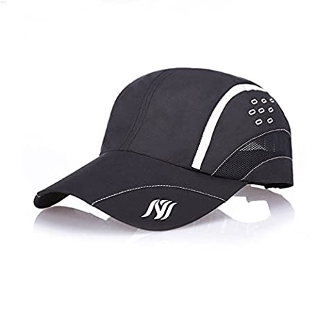 NYCOODNY Outdoor Riding Cap Quick Dry Sport Hat Lightweight Breathable Soft Camping Cap (Raindrops series Black)