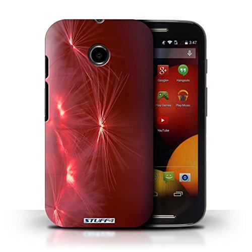 Kobalt® Imprimé Etui / Coque pour Motorola Moto E (2014) / Rose conception / Série Allumez la vie Rouge