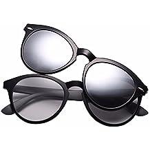 TYJshop Gafas De Sol para Hombre Y Mujer con Clip Magnético Polarizadas Y Gafas De Doble
