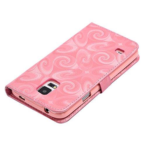 C-Super Mall-UK Apple iPhone 6 Plus / 6s Plus 5.5 Inch hülle: Schmücken Treibsand Patterns Qualität PU-Leder Brieftasche Stand Flip hülle für Apple iPhone 6 Plus / 6s Plus 5.5 Inch(Double Heart) Pink